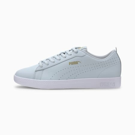 Smash Perf Leather Women's Sneakers, Plein Air-Team Gold-White, small-IND