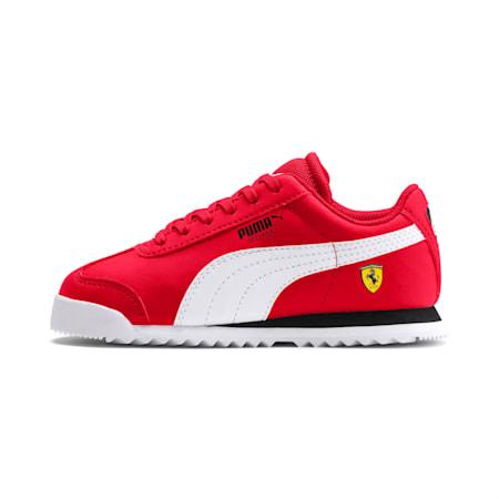 Scuderia Ferrari Roma Little Kids' Shoes, Rosso Corsa-White-Black, small