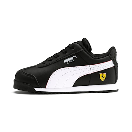Scuderia Ferrari Roma Toddler Shoes, Black-White-Rosso Corsa, small