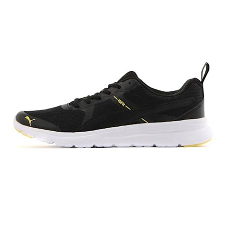 Flex Essential Shoes, Puma Black-Blazing Yellow, small-IND
