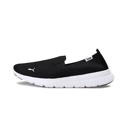 PUMA Flex Essential Slip On Walking Shoes, Puma Black-Puma Black, small-IND