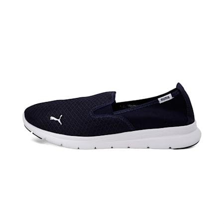 PUMA Flex Essential Slip On Walking Shoes, Peacoat-Puma White, small-IND