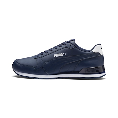 ST Runner V2 Unisex Sneakers, Peacoat-Puma White, small-IND