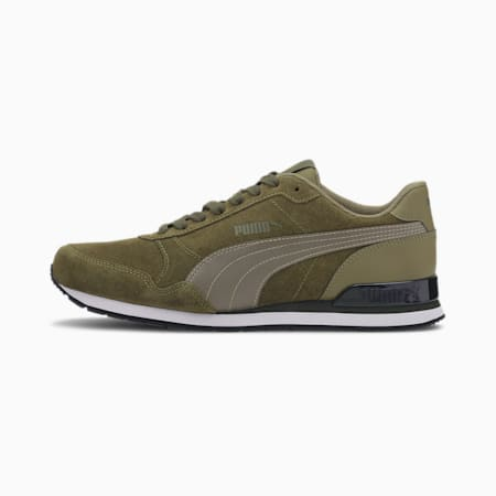 ST Runner Trainers, Burnt Olive-Forest Night, small