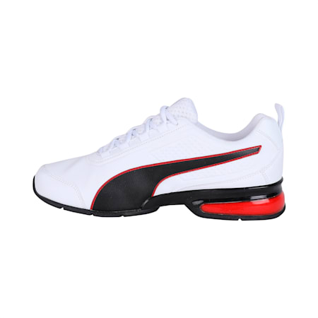 Leader VT SL SoftFoam Running Shoes, White-Black-Flame Scarlet, small-IND