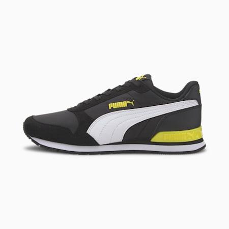 ST Runner v2 NL Sneakers JR, Puma Black-Puma White-Meadow, small