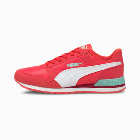 Zapatos deportivos ST Runner v2 NL para jóvenes, Paradise Pink-Puma White-Eggshell Blue, pequeño
