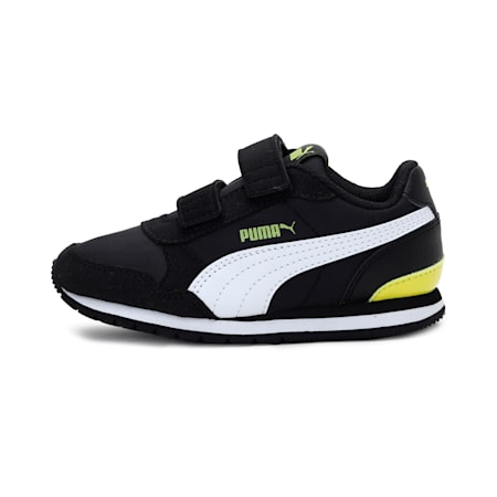 ST Runner v2 Kids' Shoes, Puma Black-Puma White-Meadow, small-IND