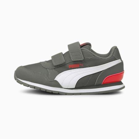 ZapatosST Runner v2 para niños, CASTLEROCK-Puma White-Poppy Red, pequeño