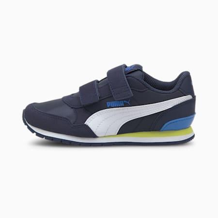 ZapatosST Runner v2 para niños, Peacoat-Puma White-Nebulas Blue, pequeño