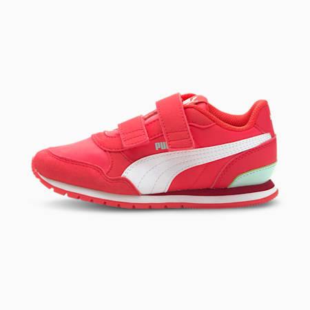 ZapatosST Runner v2 para niños, Paradise Pink-Puma White-Eggshell Blue, pequeño