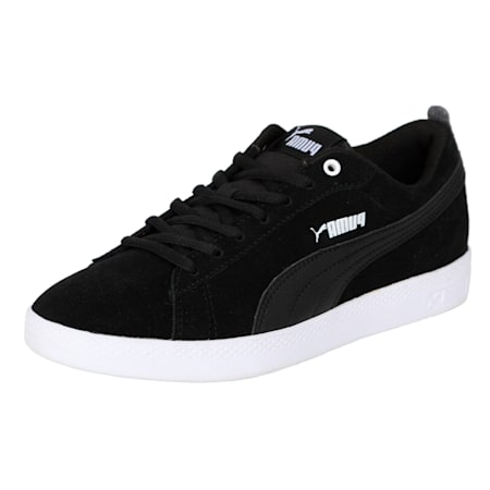Smash v2 Suede Women's Sneakers, Puma Black-Puma Black, small