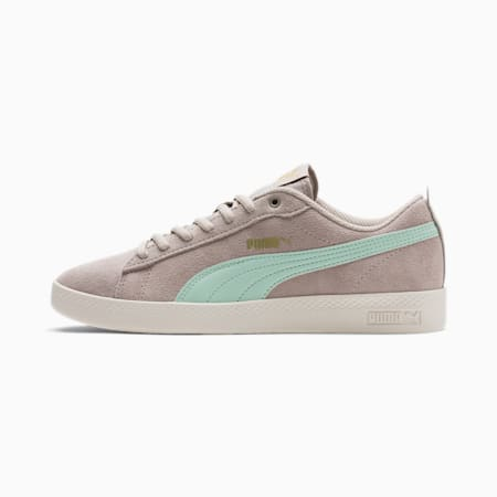 Smash v2 SD Women's Trainers, Silver Cloud-Mist Green-Gold, small