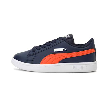 Smash v2 L Kids' Sneakers, Peacoat-Firecracker-Puma White, small-IND