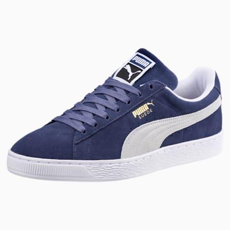 Suede Classic Shoes, Blue Indigo-Puma White, small-IND