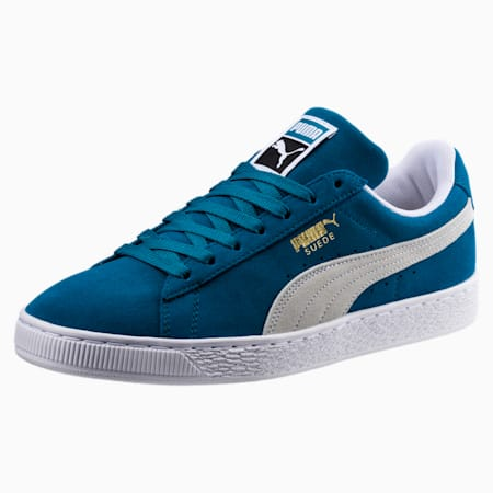 Suede Classic Trainers, Ocean Depths-Puma White, small