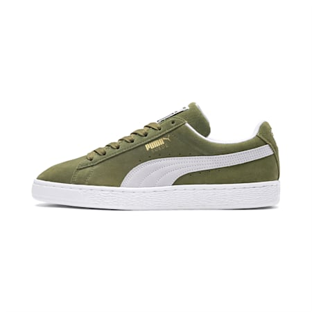 Suede Classic Shoes, Capulet Olive-Puma White, small-IND