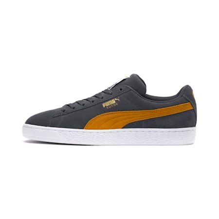 Suede Classic Shoes, Iron Gate-Buckthorn Brwn-Wht, small-IND