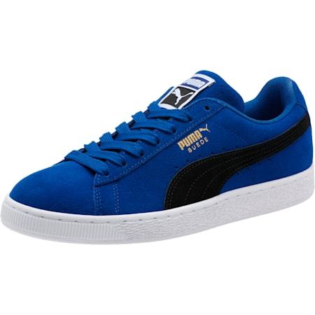 Suede Classic Sneakers, Sodalite Blue- Black-White, small