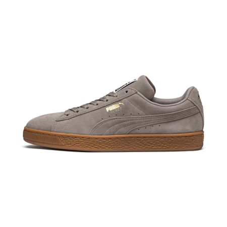 Suede Classic Shoes, Elephant Skin- Team Gold, small-IND