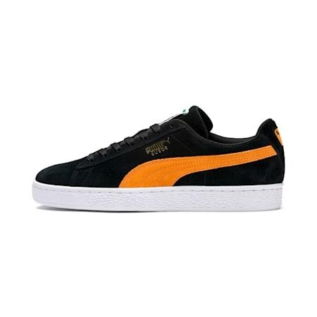 Suede Classic Shoes, Puma Black-Orange Pop, small-IND