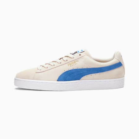 Suede Classic Men's Sneakers, Whisper -Palace Blue-Black, small