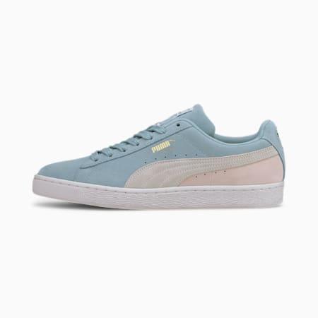 Suede Classic Men's Sneakers, Aquamarine-White-Rosewater, small