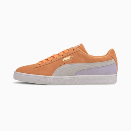 Suede Classic Sneakers, Cantaloupe-Puma White-Purple, small