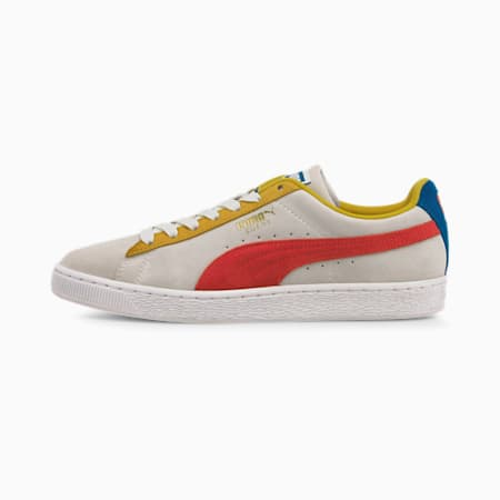 Suede Classic Sneakers, Puma White-Super Lemon- Red, small