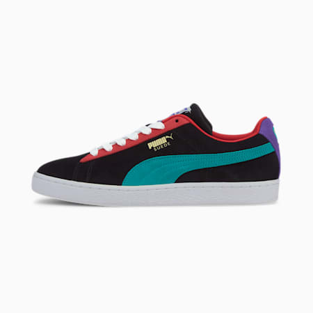 Suede Classic Sneakers, Black-Viridian Green-Red, small