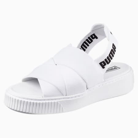 Platform Women's Sandals, Puma White-Puma White, small-SEA