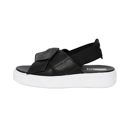 Platform Leather Women's Sandals, Puma Black-Puma Black, small-IND
