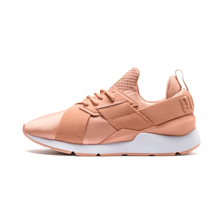En Pointe Muse Satin Women's Sneakers, Dusty Coral-Dusty Coral, small