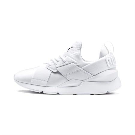 En Pointe Muse Satin Women's Sneakers, Puma White-Puma White, small