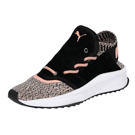 TSUGI Shinsei evoKnit Women's Shoes, PBlack-WWhite-Castor Gray, small-IND