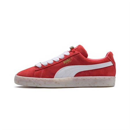 Suede Classic B-BOY Fabulous Women's Shoes, SpicedCoral-White-Red Dahlia, small-IND