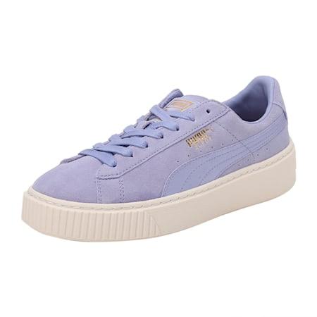 Suede Platform Satin Women's Shoes, Sweet Lavender-Whisper-Gold, small-IND
