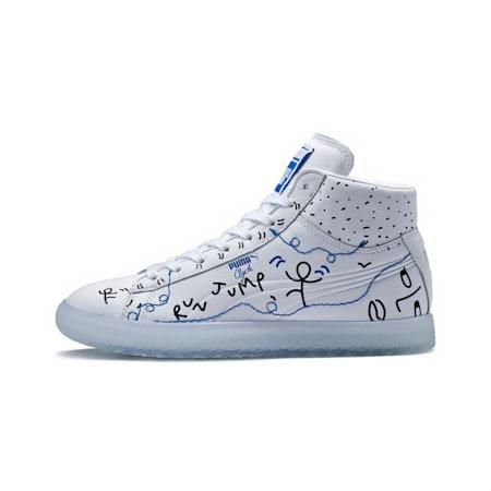 PUMA x SHANTELL MARTIN Clyde Mid  Shoes, Puma White-Puma White, small-IND