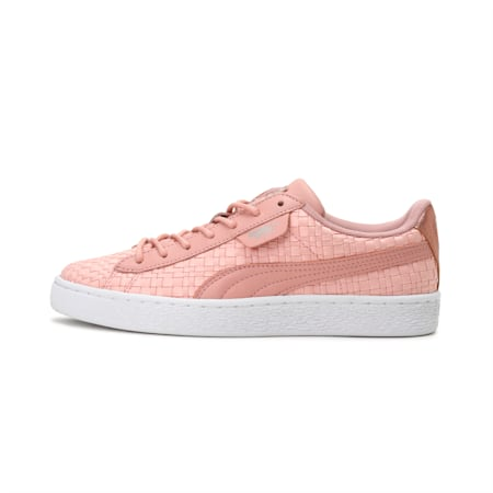 Basket Satin En Pointe Women's Shoes, Peach Beige-Puma White, small-IND