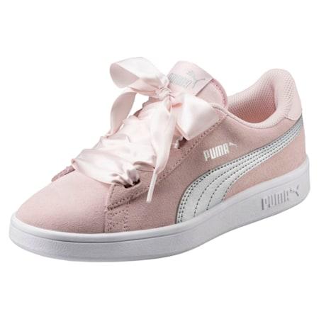Smash v2 Ribbon Jr Shoes, Pearl-Puma Silver, small-IND