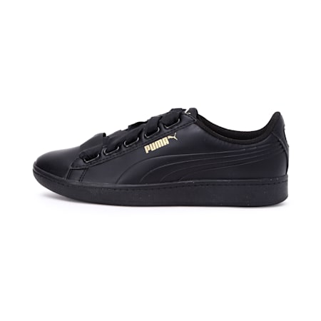 Women's Puma Vikky Ribbon Sneakers, Puma Black-Puma Black, small-IND
