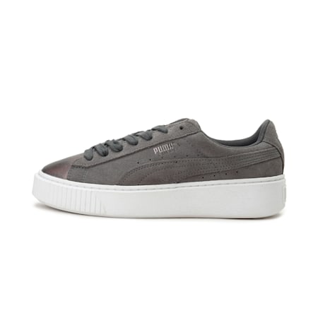 Suede Platform Lunar Lux Women's Shoes, Smoked Pearl, small-IND