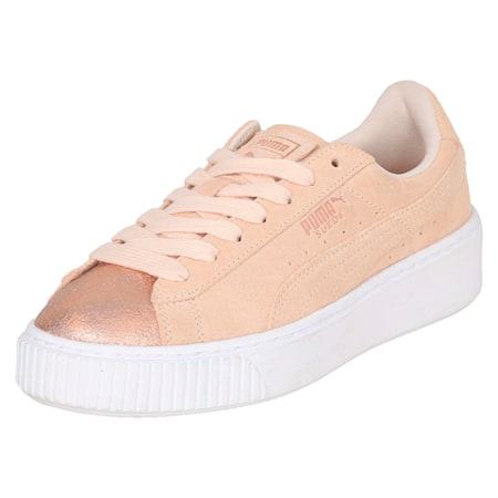 Suede Platform Lunar Lux Women's Shoes, Cream Tan, small-IND