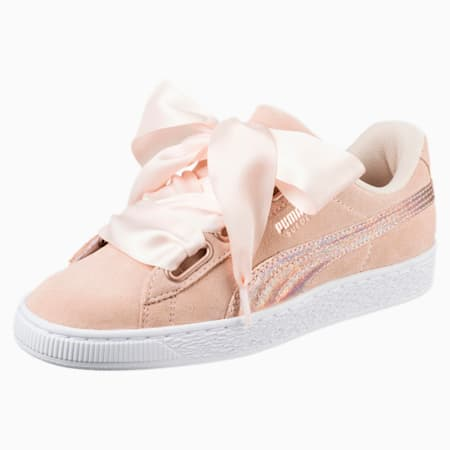 Suede Heart LunaLux Women's Shoes, Cream Tan, small-IND