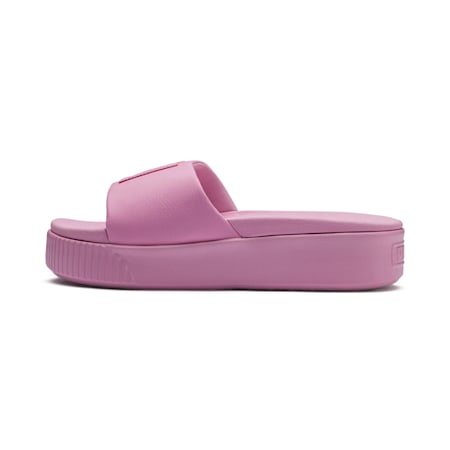 Platform Slide Women's Sandals, Pale Pink-Pale Pink, small