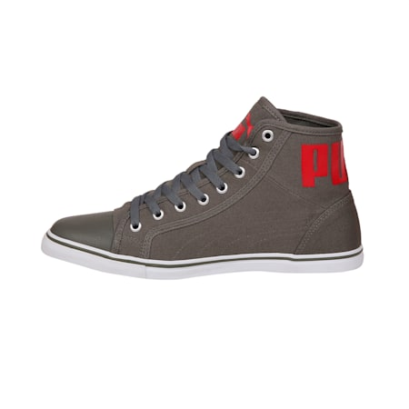 Streetballer Mid IDP Men's Sneakers, Castor Gray-Flame Scarlet, small-IND
