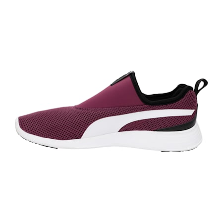 ST Evo v2 Slip-on Walking Shoes, Dark Purple-Puma White, small-IND