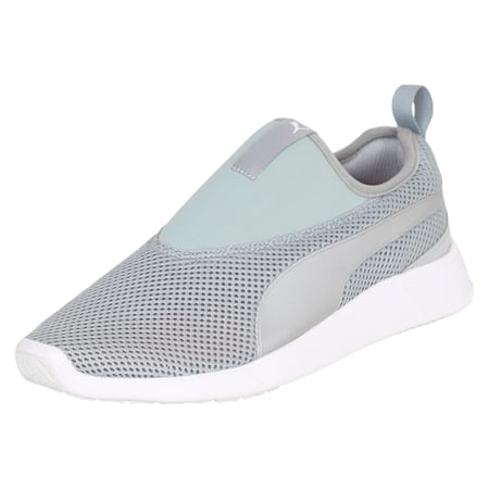 ST Evo v2 Slip-on Walking Shoes, Quarry-Puma Silver, small-IND