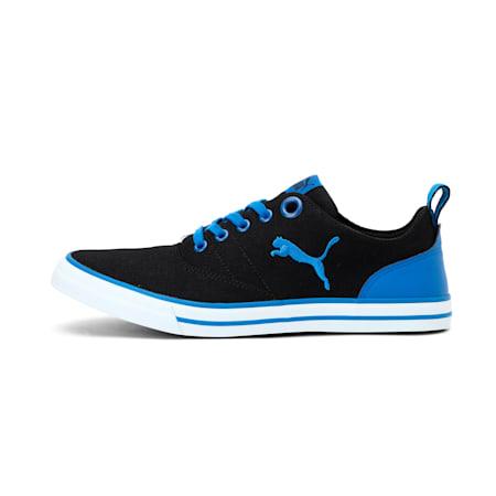 Slyde NU IDP Sneakers, Black-Electric Blue Lemonade, small-IND