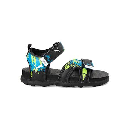 Techno Cat GU PS IDP Kid's Sandals, Puma Black-Mykonos Blue, small-IND